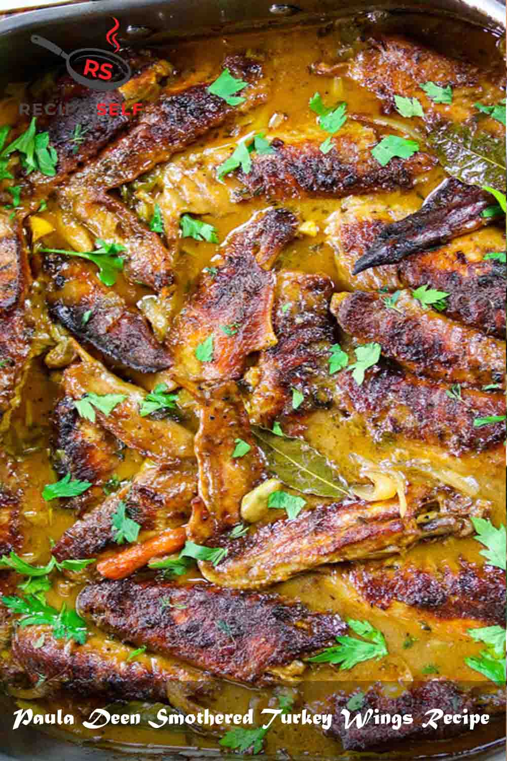Paula Deen Smothered Turkey Wings Recipe